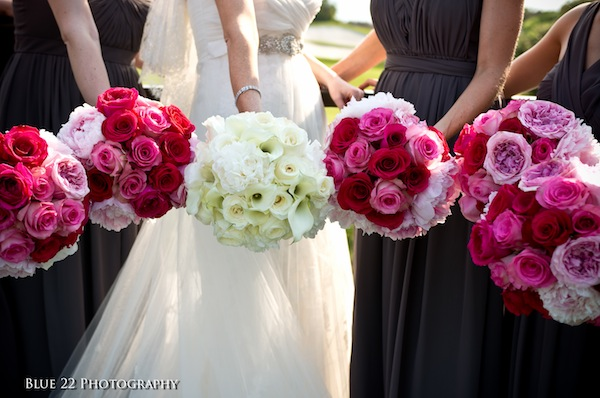 Bridal Bouquet With Fuchsia Purple Orchids Source Christine S Bouquets