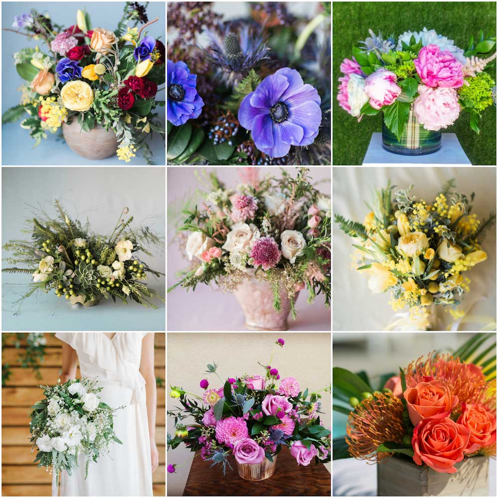 Los Angeles Wedding Flowers by Flower Duet