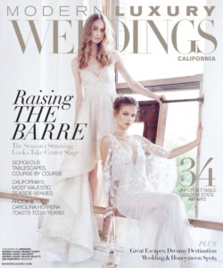 Modern Luxury Weddings CA Winter 2017 Cover