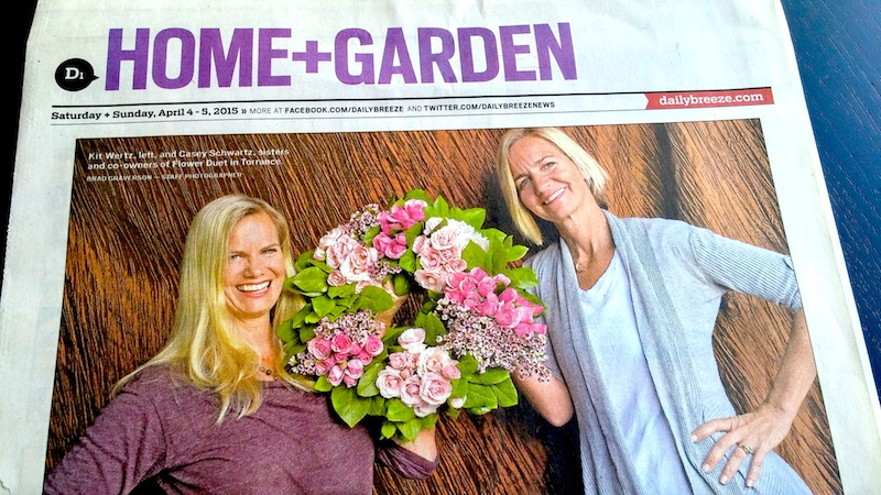 Flower Duet in the LA Daily News