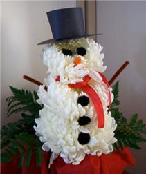 Flower Snowman Novelty