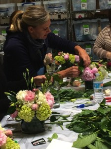 Kit Wertz of Flower Duet teaches a sold out Peony Class at the studio in May 2015.