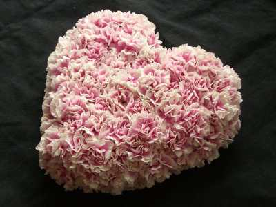Valentine's Heart Flower Arrangement