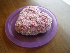 Covered floral foam in mini Carnations