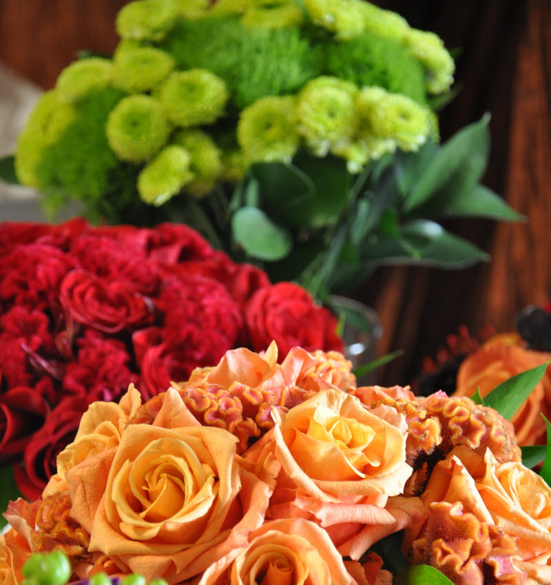 flowerduet.com Monochromatic Bouquets
