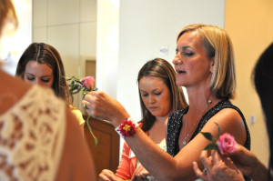 Casey of Flower Duet shows how to create a boutonniere.