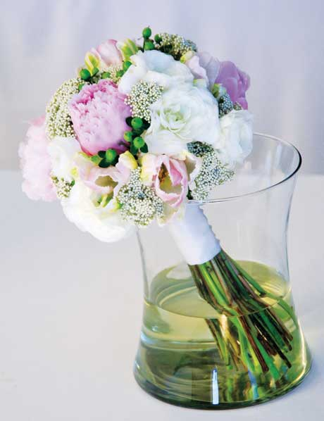 Peony bridal bouquet recipe