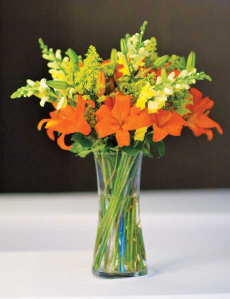 Tall Organic Orange Yellow Bouquet