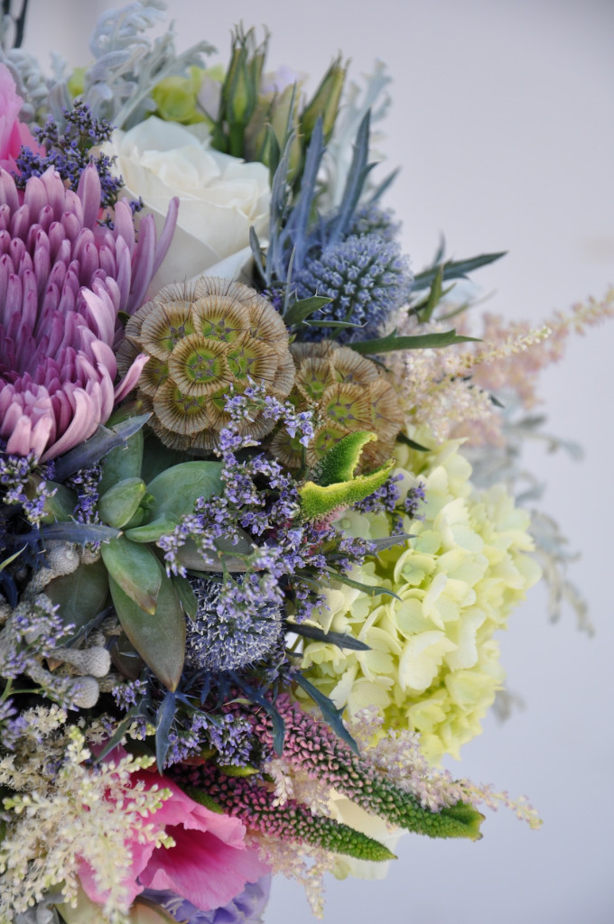 Succulent organic bridal bouquet by FlowerDuet.com for a SMOG Shoppe bride.