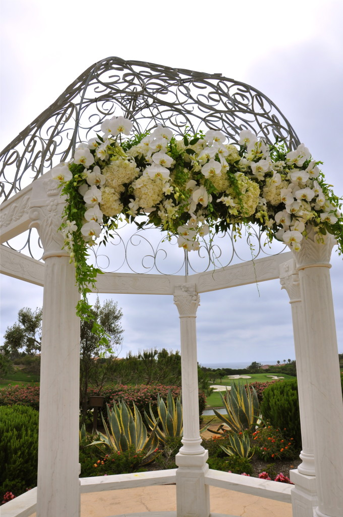 White Wedding Flowers Arch
