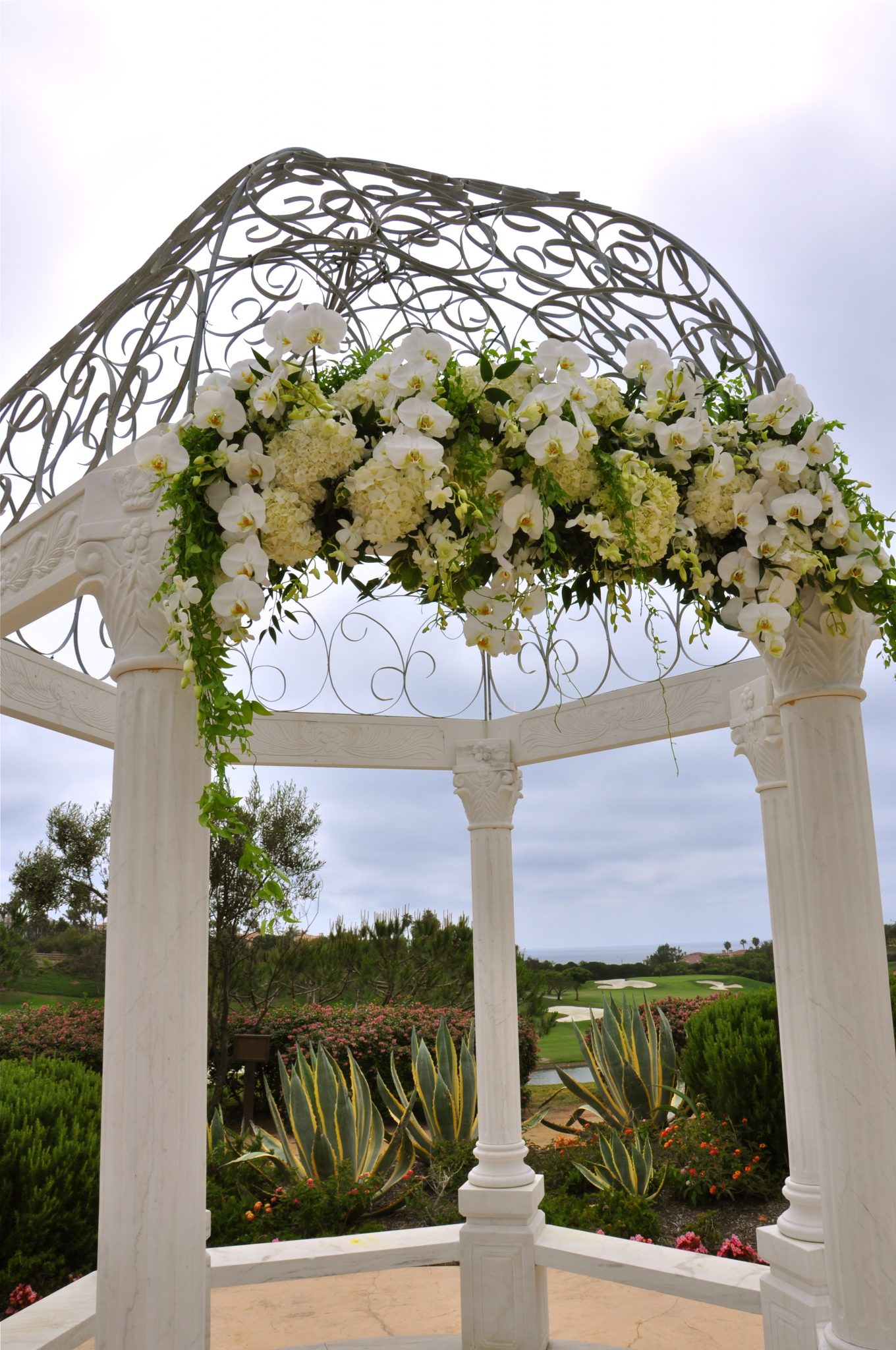 White Wedding Flowers Arch