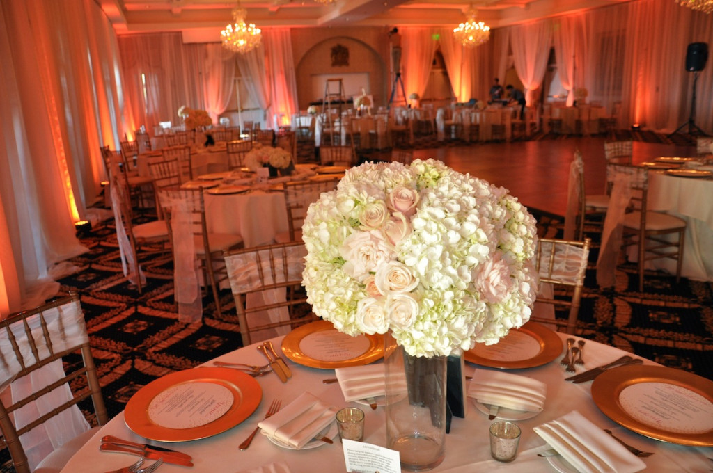 Blush Toned Wedding Centerpiece