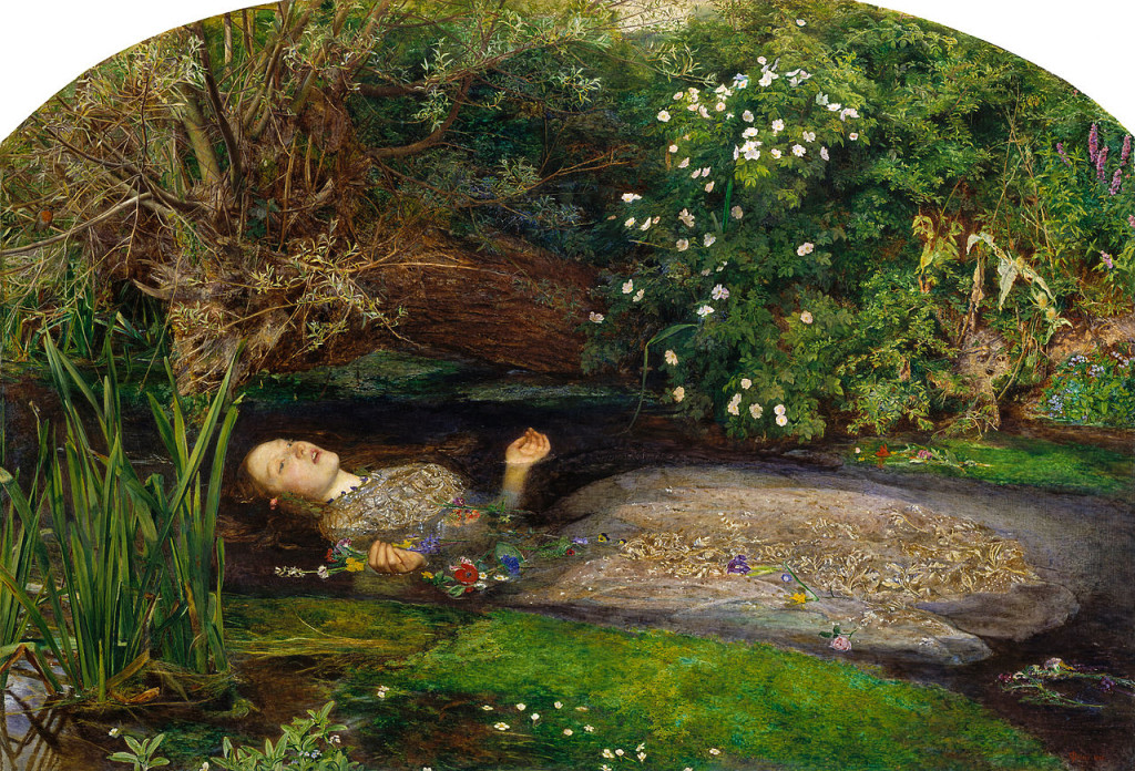 Ophelia painting by John Everett Millais