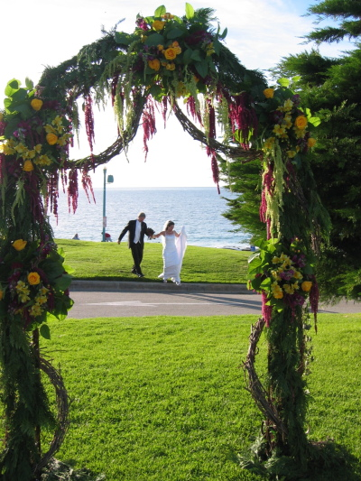 Rustic Wedding Flowers Arch
