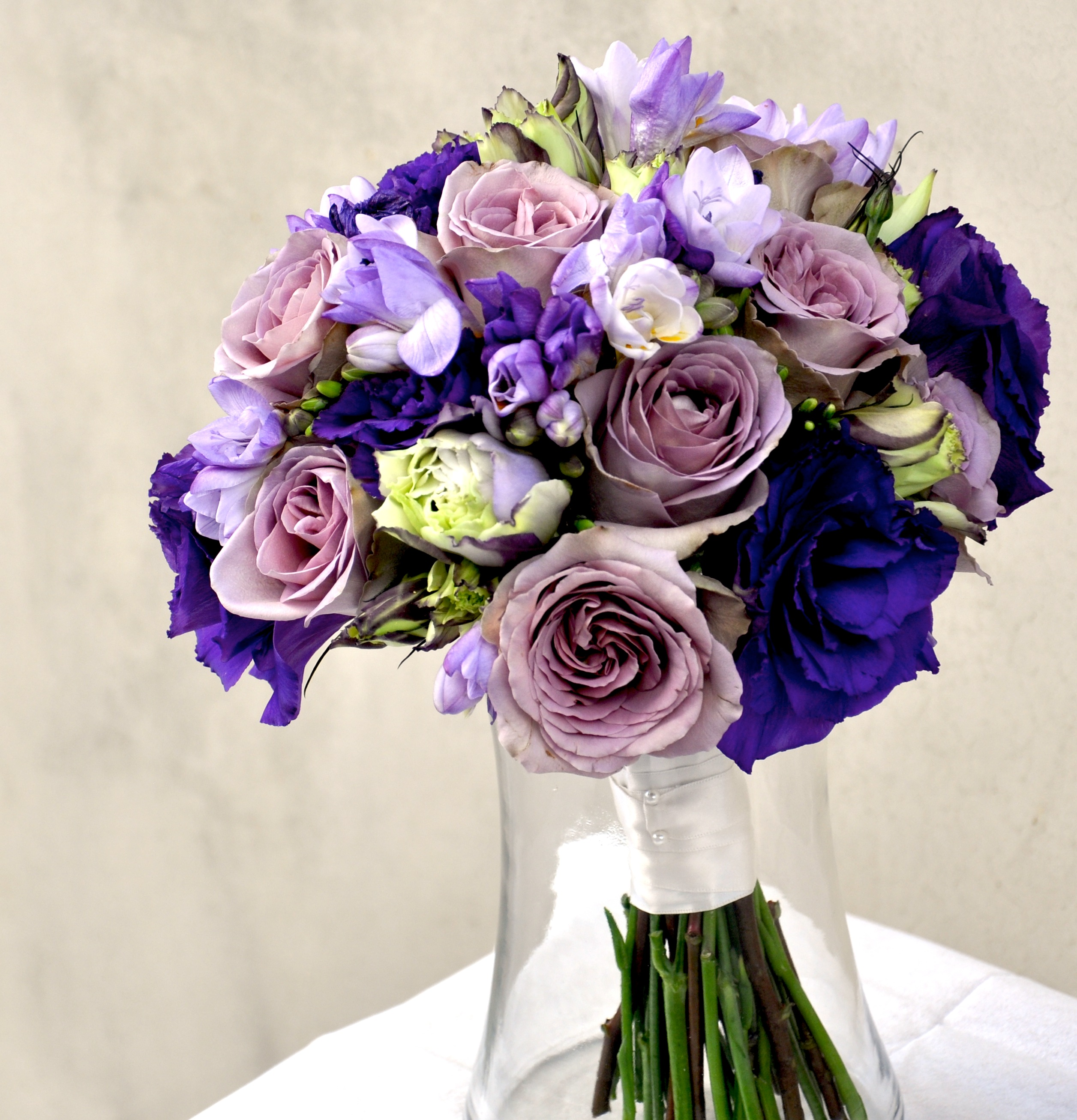 Purple and lavender bouquet flowerduet purple flower bouquet izmirmasajfo Images
