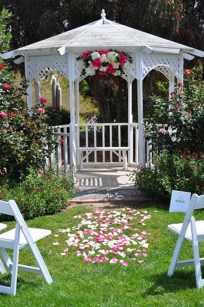 Pink and White Wedding Arch
