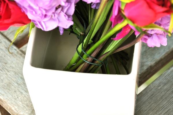 Lock stems in vase