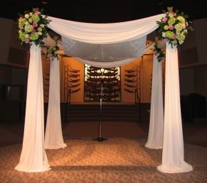 Temple Chuppah Flower Decorations