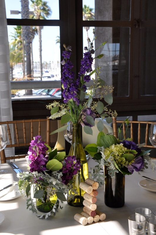 flowerduet-portofino-wedding-wine-bottle-centerpiece-cork-tablenumbers