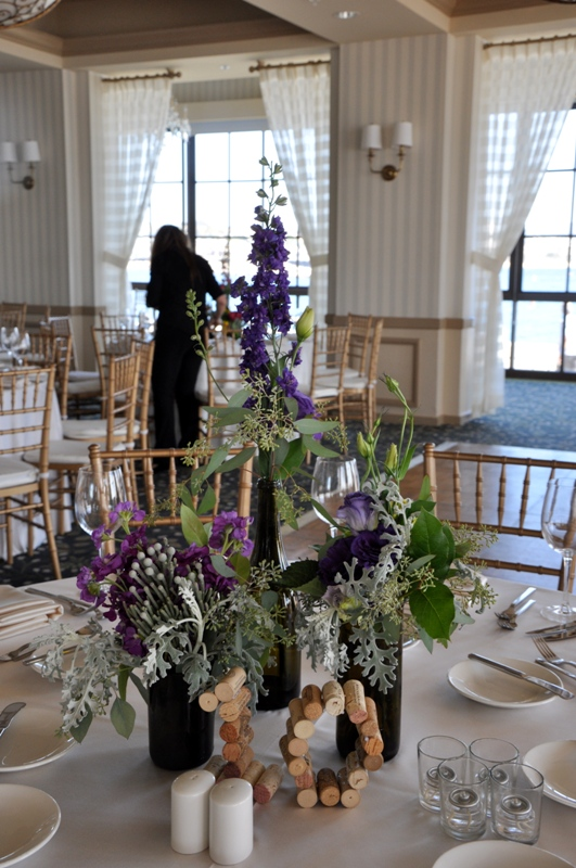 Here is how some bottles that are of different heights looked at a recent reception by Flower Duet. Photo by Casey Schwartz.