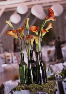 Wedding Wine Bottle Centerpiece