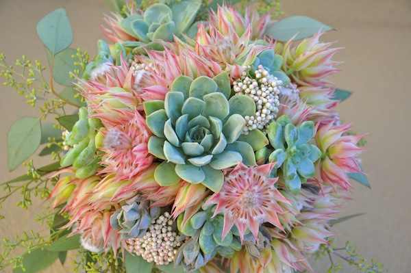 How to create a succulents bridal bouquet view larger image mightylinksfo