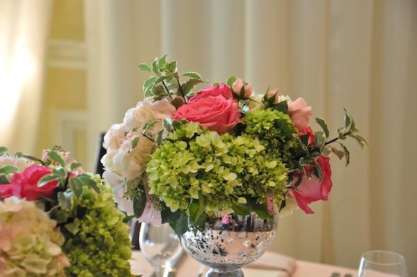 Beach wedding flowers swirl petal aisle orchid cherry blossom flowerduet pink green wedding centerpiece flowers mightylinksfo