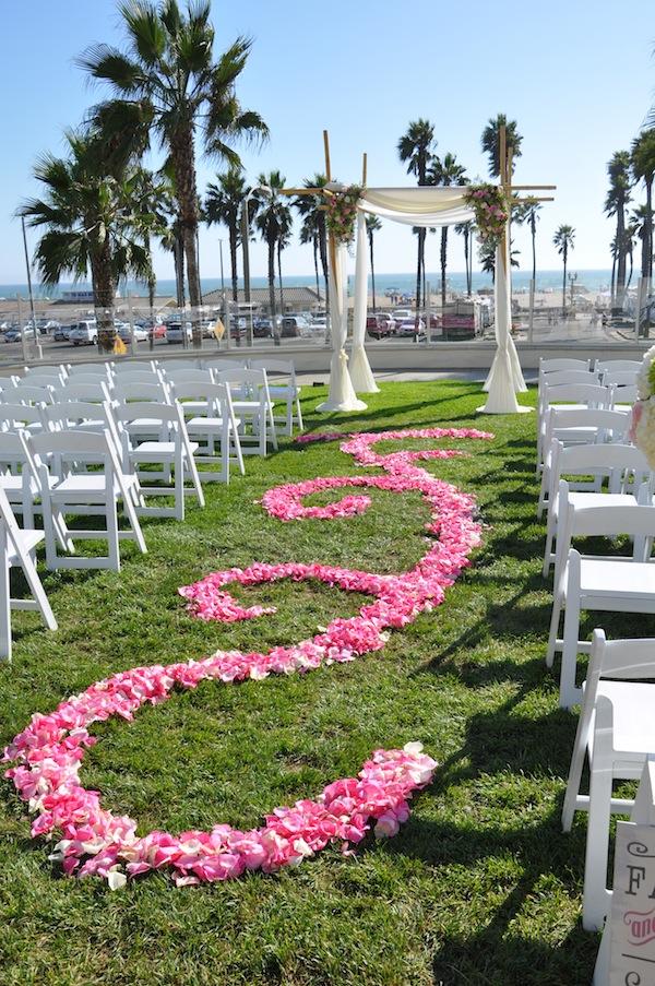 Beach Wedding Flowers | Swirl Petal Aisle | Orchid Cherry Blossom ...