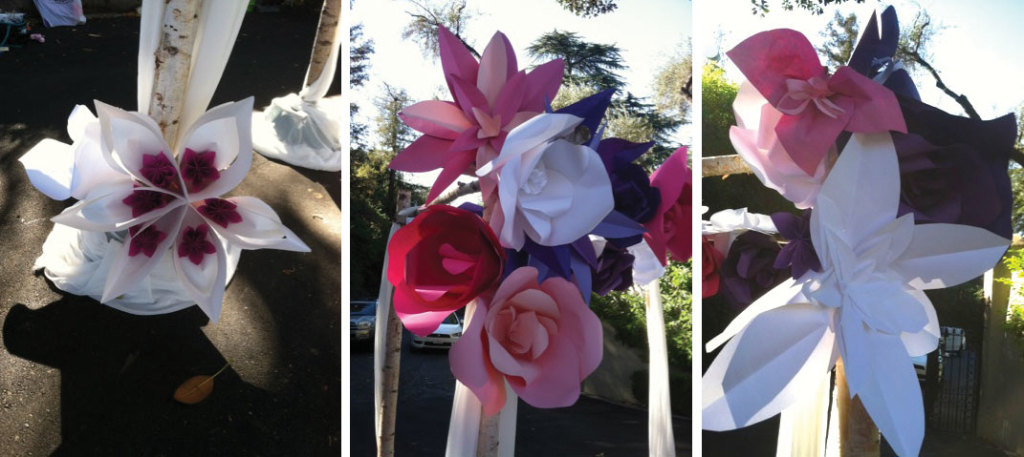 Here are some details of the lovely flowers by paperlyeverafter.com.