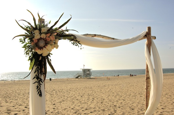 Beach Wedding Arch By Flower Duet