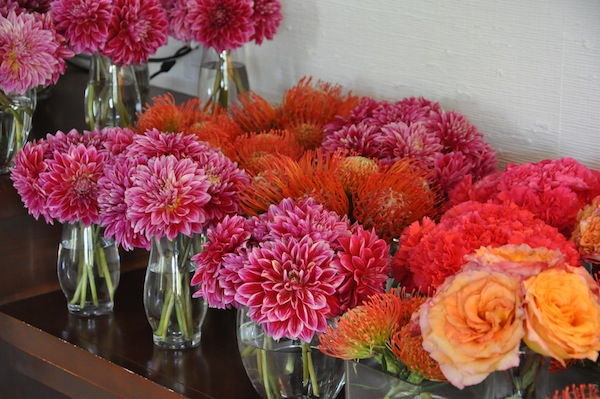Dahlias, Carnations, Protea for weddings!