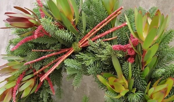 https://flowerduet.com/wordpress/wp-content/uploads/2014/12/flower-duet-christmas-wreath-design-protea-evergreen-amaranthus-600x353.jpg