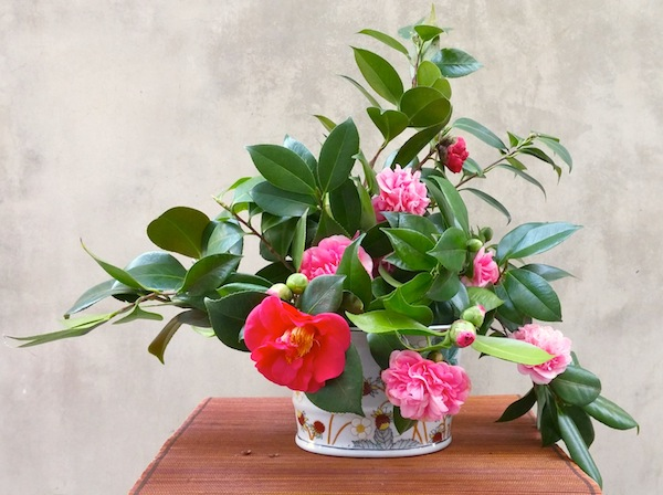 Camellia Flower Arrangement