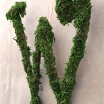 Finished W Moss-Covered Letter