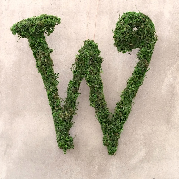 Mossy Letter Initial Wreath