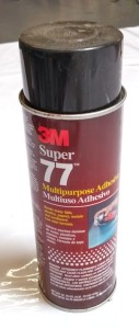 Super77 Spray Adhesive by 3M makes attaching moss to wooden frames extremely easy.