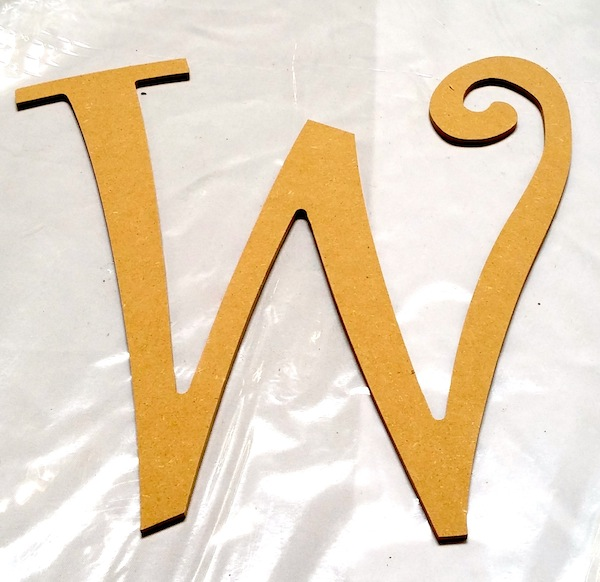 Michael's wooden letter W.