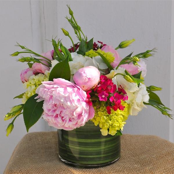 Flower Duet Peony Class Arrangement