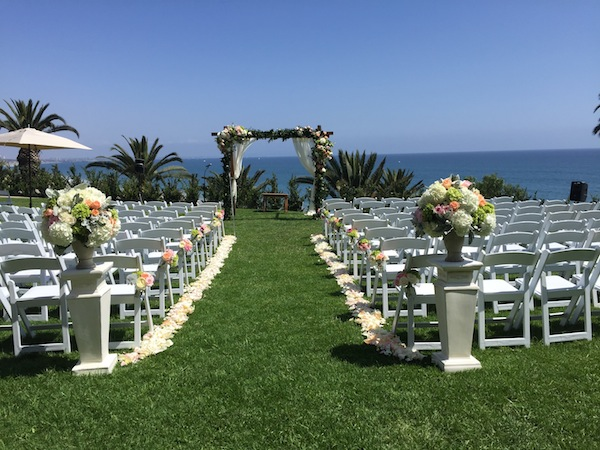 Flower Duet Arch at Bel Air Bay Club