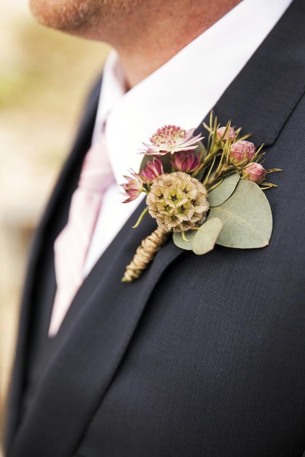 Marsala Rustic Wedding Boutonniere