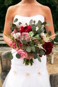 Marsala Wedding Bouquet by Los Angeles-based florist, Flower Duet.