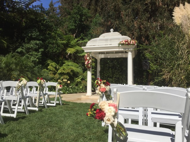 Hotel Bel Air wedding flowers by Flower Duet