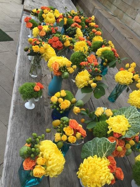 Citrus Wedding Flowers by Flower Duet