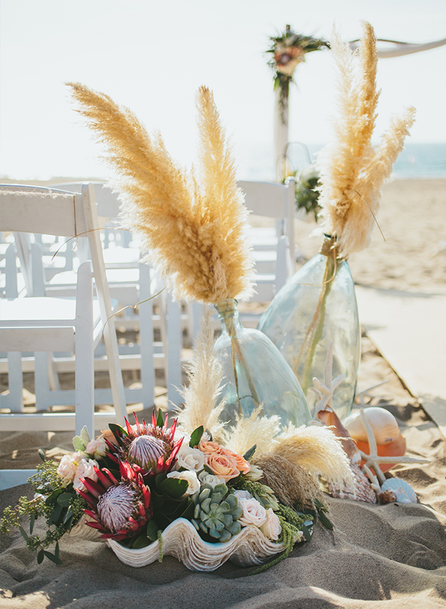 Flower Duet Beach Wedding Aisle Decor