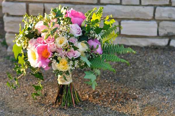 Bridal Bouquet in Rose Quartz by Flower Duet