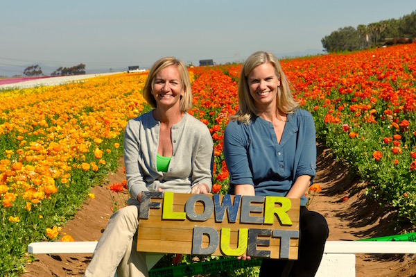 Casey & Kit of Flower Duet in the Flower Fields of Carlsbad