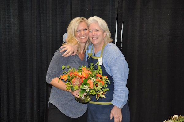 Kit Wertz and Debra Prinzing at SF Flower & Garden Show 2016