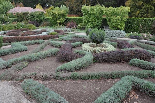 Filoli knot herb garden.