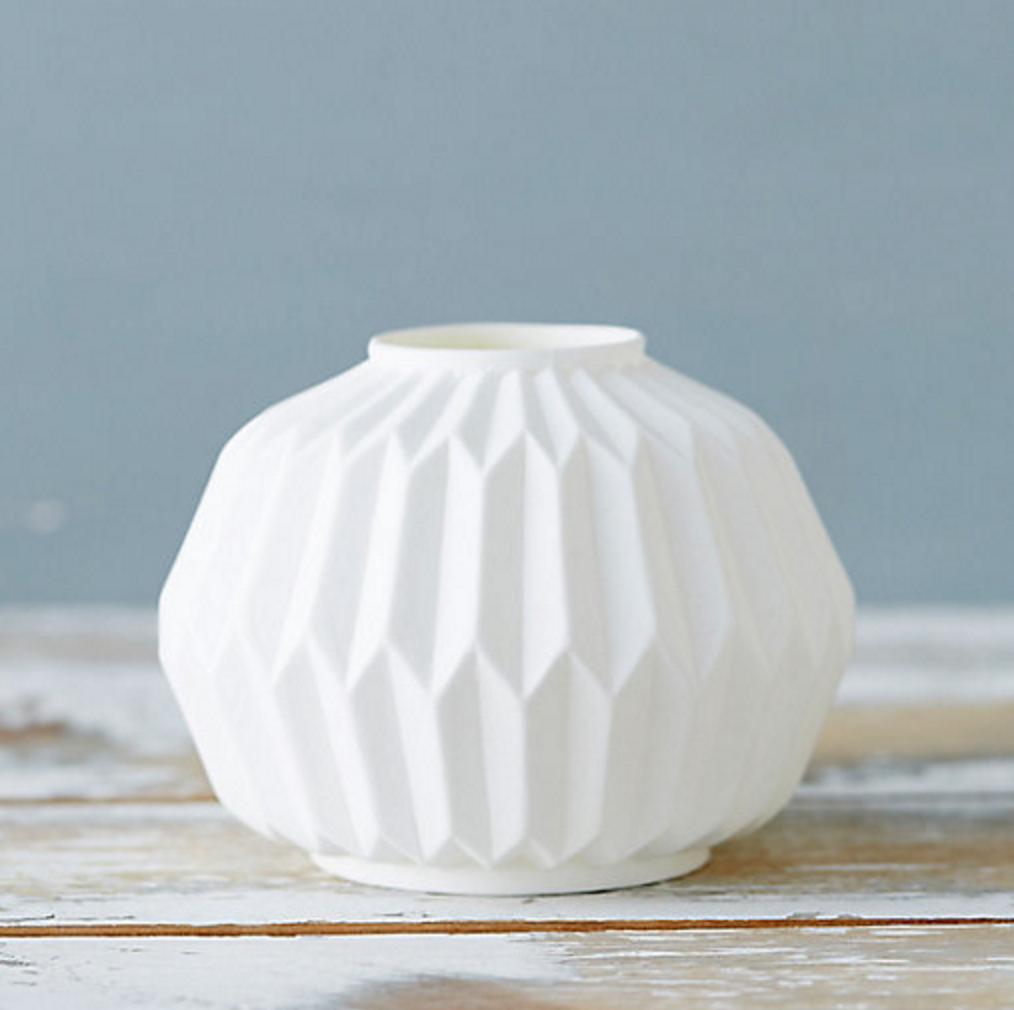 Geometric Porcelain Vase by Shop Terrain