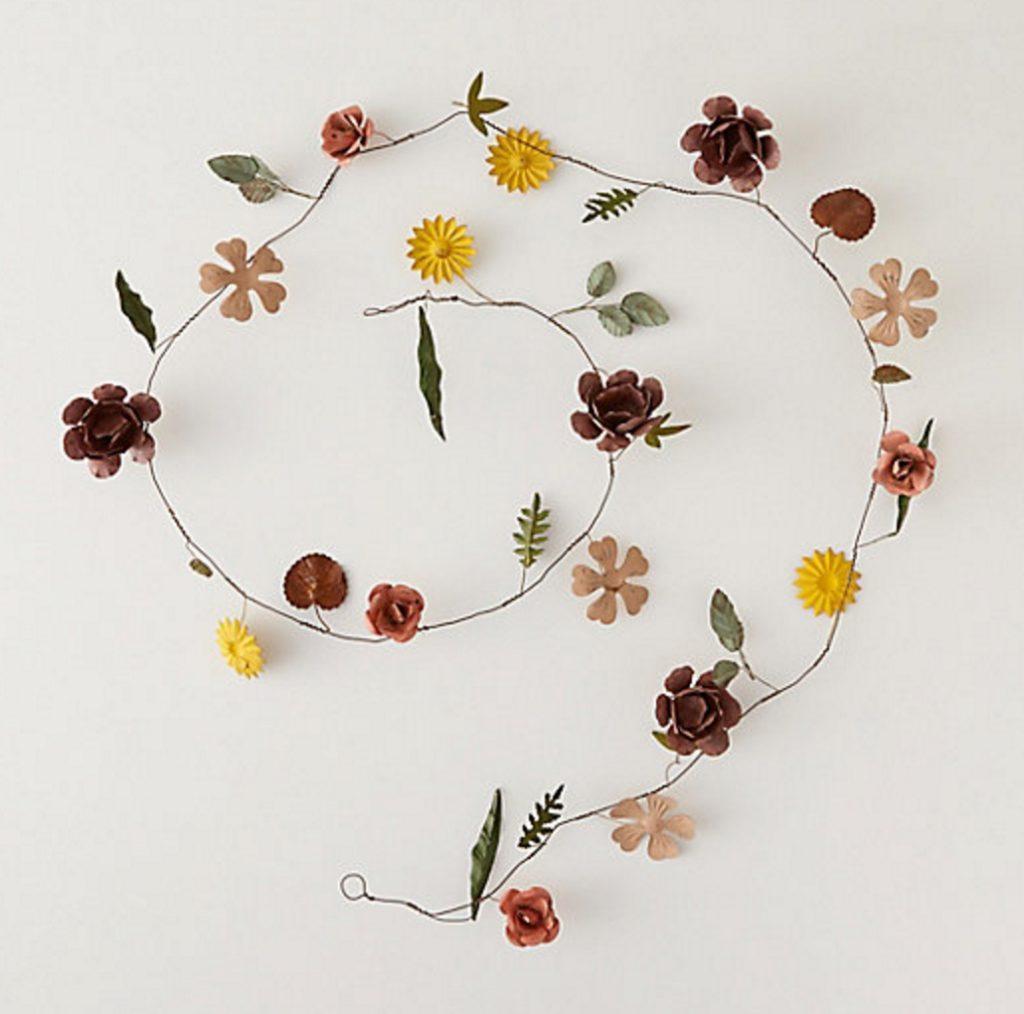 Metal Flower Garland